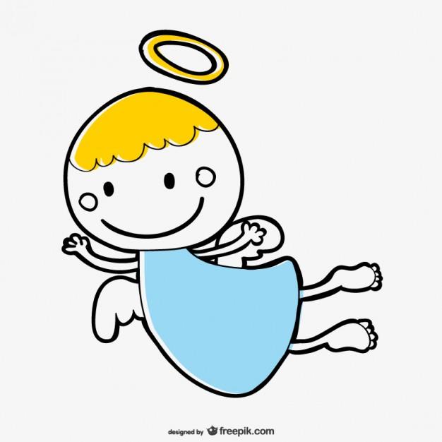 626x626 Cute Angel Cartoon Vector Vector Free Download