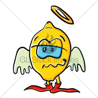325x325 Funny Angel Cartoon Onion Gl Stock Images