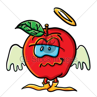 325x325 Funny Cartoon Tomato Is Angel · GL Stock Images
