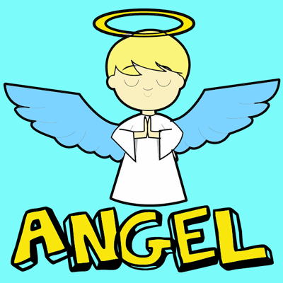 400x400 How To Draw Cartoon Angels In Easy Step By Step Drawing Tutorial