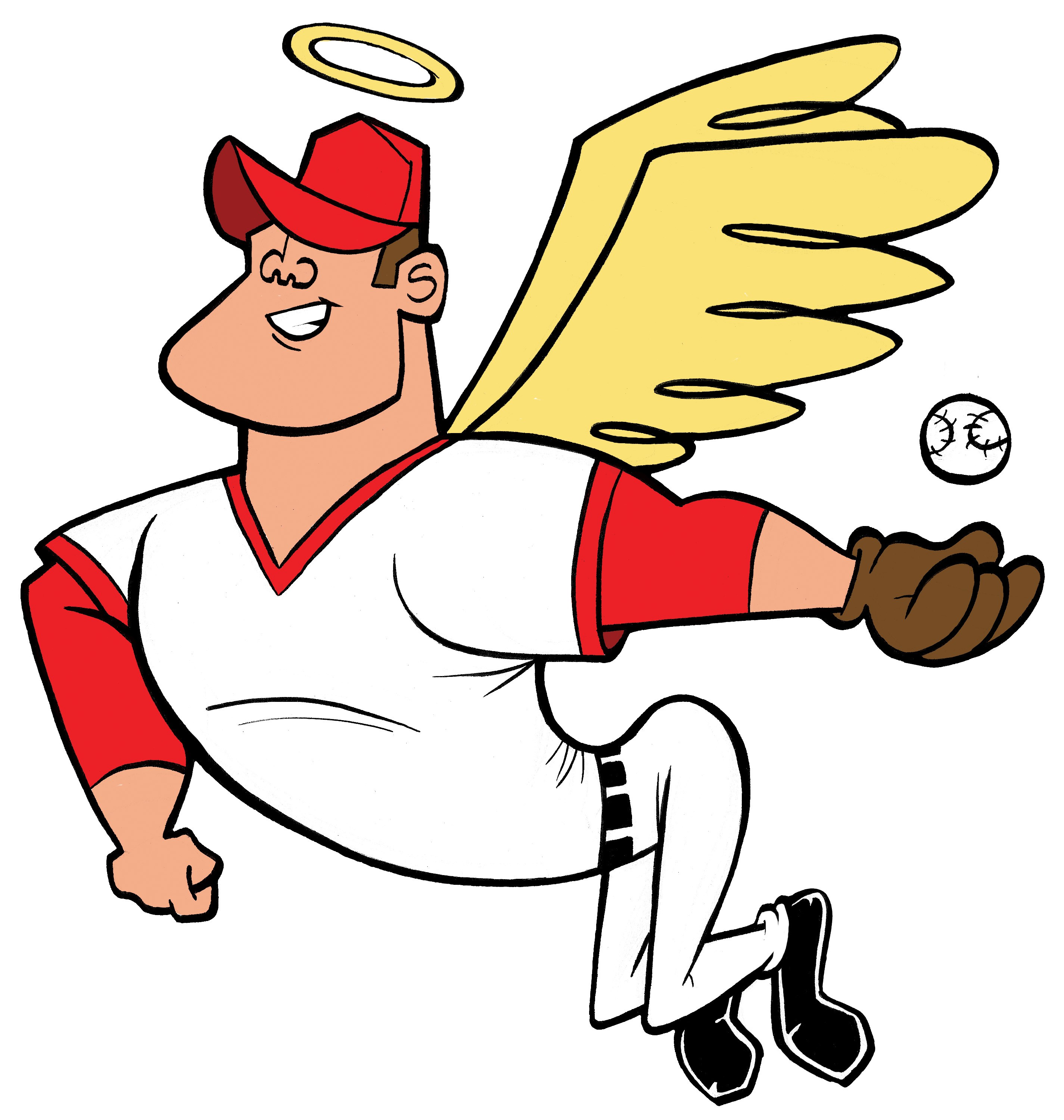 2850x3000 MikeTrout Angel cartoon I Love Mike Trout