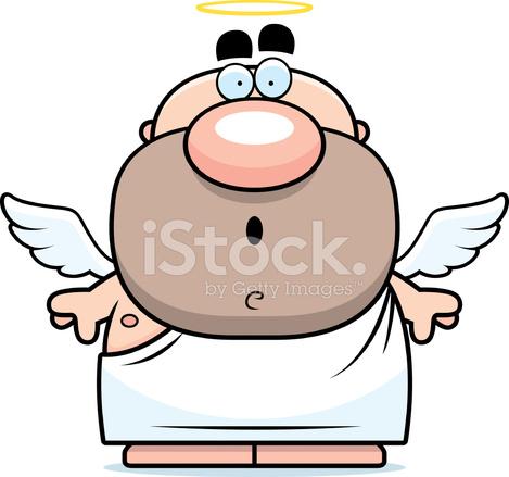 469x439 Surprised Cartoon Angel Stock Vector