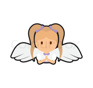 320x300 Vector Illustration Of White Angel Cartoon Stock Vector Colourbox