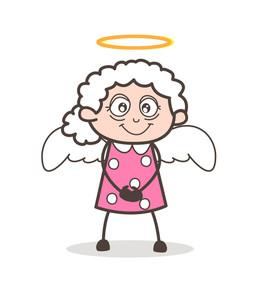 257x300 Cute Cartoon Angel Royalty Free Stock Image