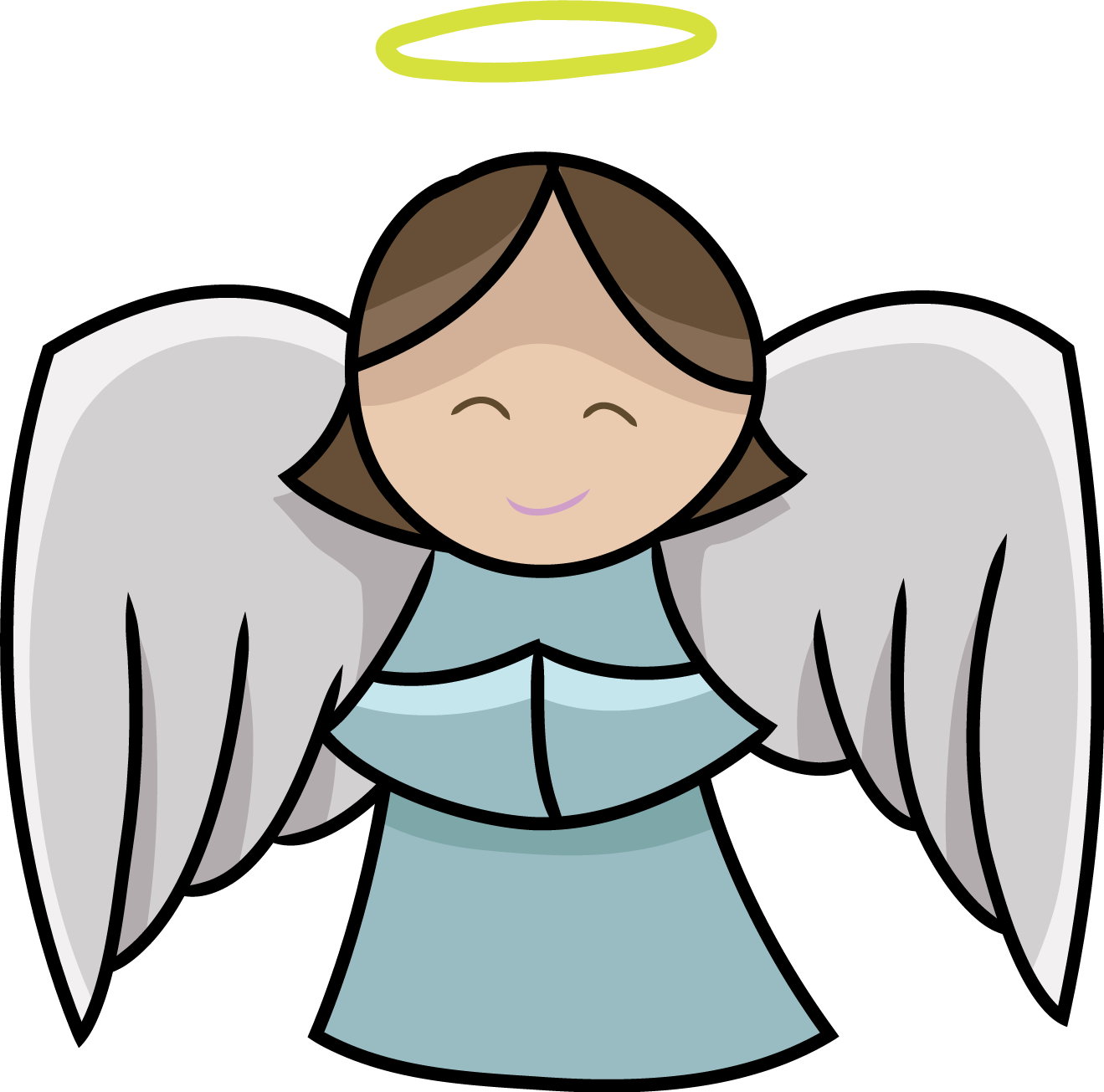 1319x1305 Angel Clipart Free Black And White