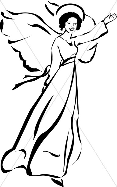 384x612 Black Angel Clipart