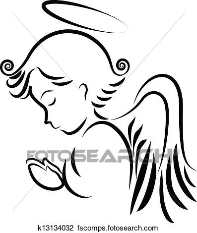 397x470 Clipart Of Angel Praying Logo K13134032