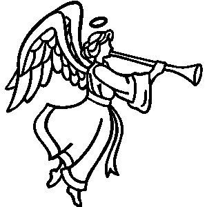 300x300 Free Angel With Trumpet Clipart