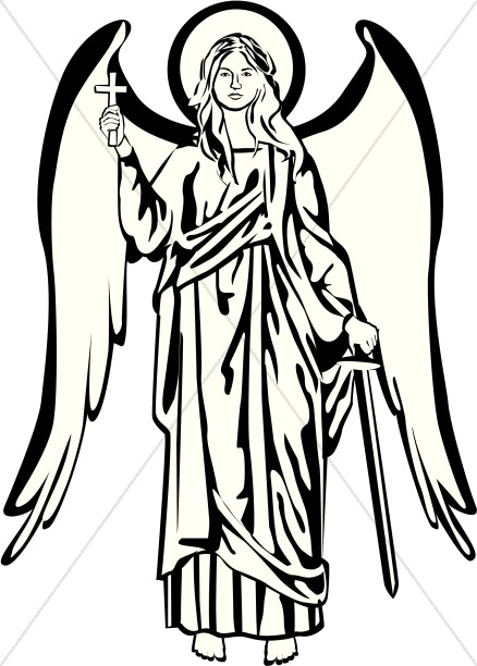438x612 Heaven Clipart Black And White