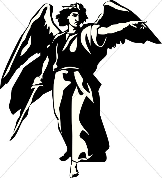 557x612 Angel Clipart Archangel