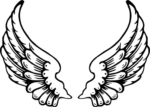 600x428 Angel clipart free wings