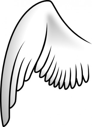 308x425 Angel wings wing clip art free vector in open office drawing svg