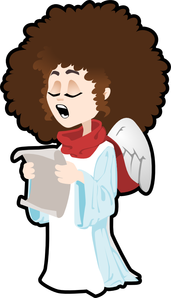 555x968 Free angel singing clip art –