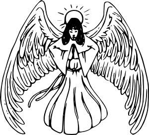 300x272 Angel Praying Tattoo Clip Art