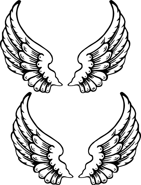 456x598 Angel Wings 1 Clip Art
