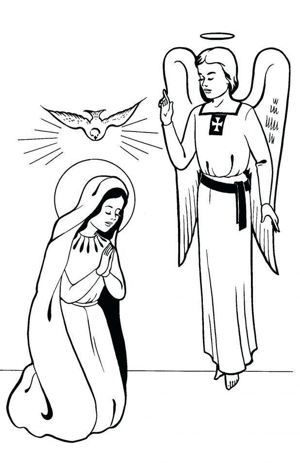 618x954 Angels Coloring Pages Christmas Angel For Adults Feast