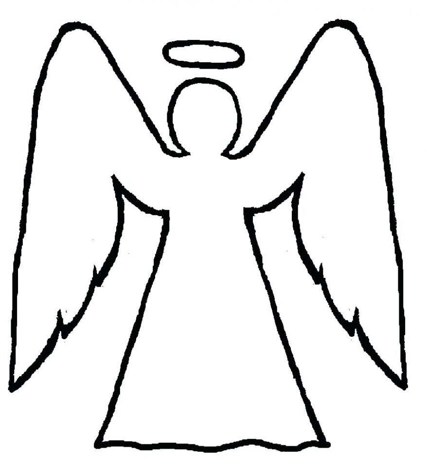 878x976 Angels Picture Angel Coloring Pages With Halo 122 Amazing