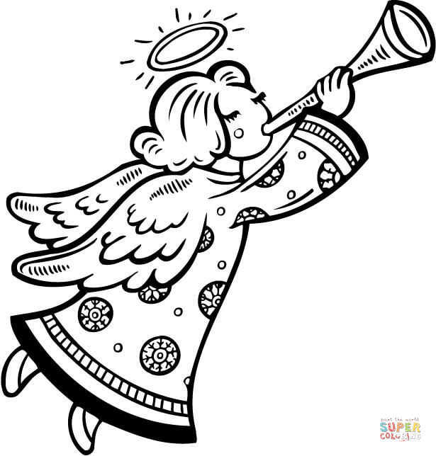 615x644 Angels Coloring Pages Free Coloring Pages