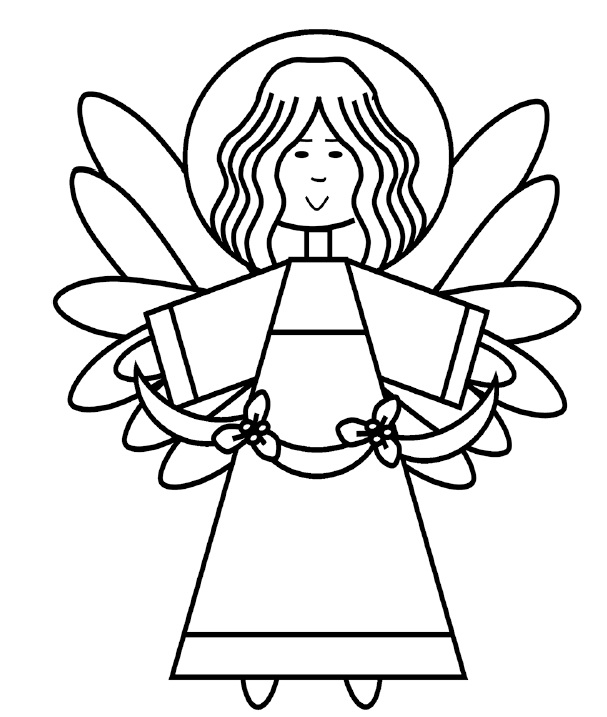 607x717 Christmas Time Angels Coloring Pages Print Coloring Pages