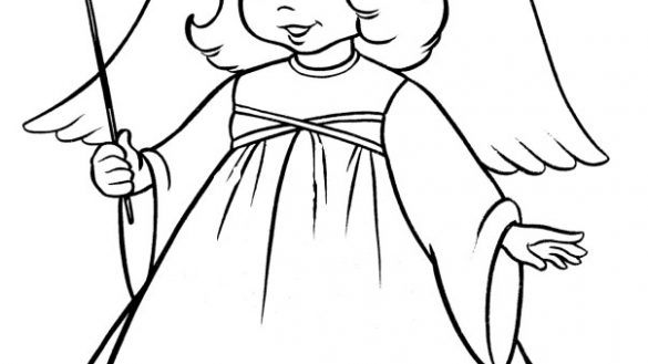 585x329 Coloring Pictures Of Angels Coloring Page We Are All Magical