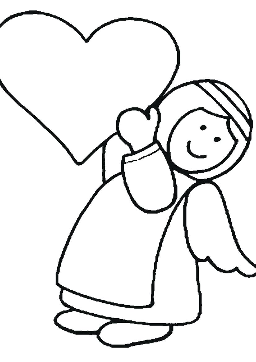 826x1169 Drawing Angels Coloring Page Angel Pages Online Guardian Sheets