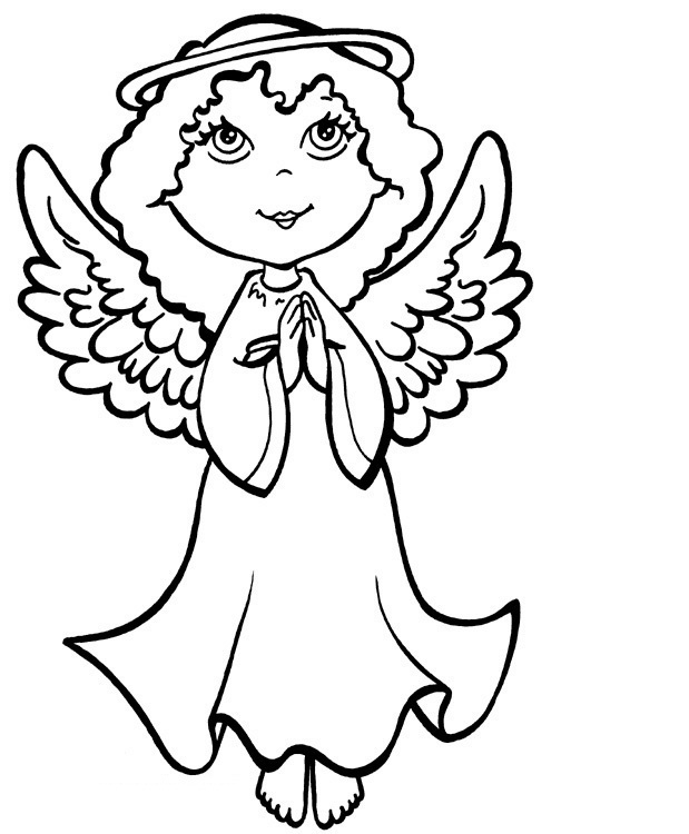 619x750 Free Printable Angel Coloring Pages Draw Background Free Printable