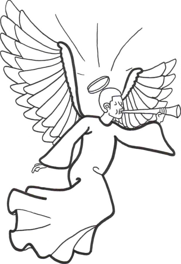 618x902 Printable Angel Coloring Pages Pictures Of Photo Albums Angels