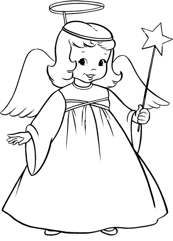 Angel Coloring Pages | Free download best Angel Coloring ...