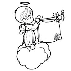 230x230 Top 10 Free Printable Cheerful Angel Coloring Pages Online