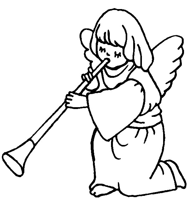 606x637 Flute Angels Coloring Pages Print Coloring Pages