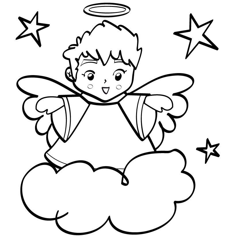 820x820 Angel Coloring Pages New Free Printable Angel Coloring Pages