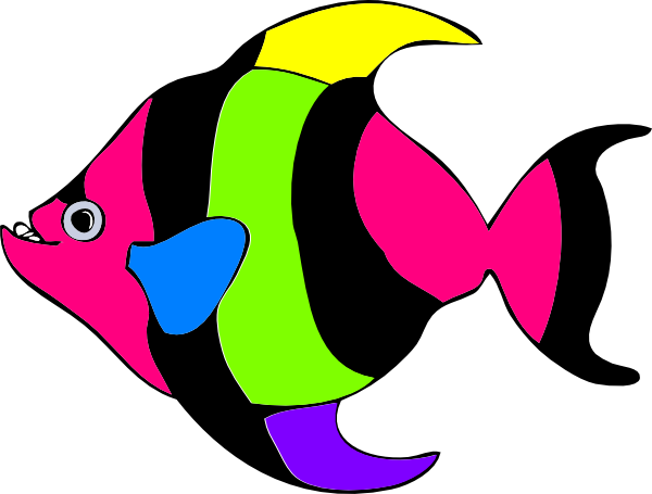 600x455 Angelfish Clipart Colourful Fish