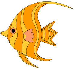 250x232 Orange Tropical Fish Clip Art