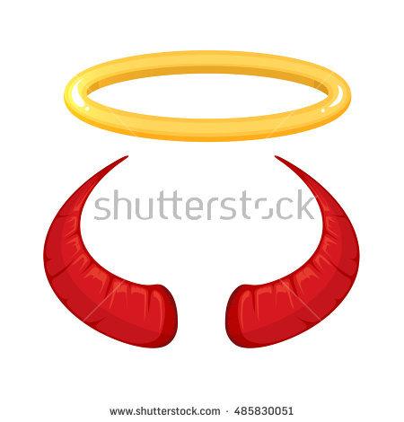 450x470 Halo Clipart Demon Horns
