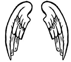 236x204 Simple Angel Wings Template Angel Wing Transparent Clip Art