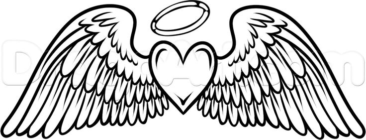 736x281 Angel Wings Heart Clip Art