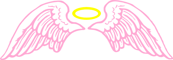 600x209 Angel Wings With Halo Drawings