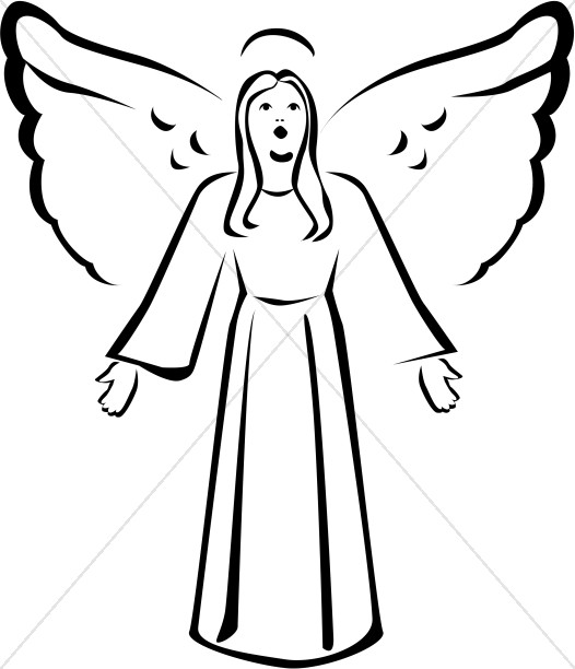 526x612 Yellow Angel With Halo Angel Clipart