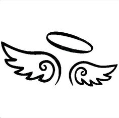 236x234 Angel Wings Decal With Halo, Angels Decals, Angels Stickers, Vinyl
