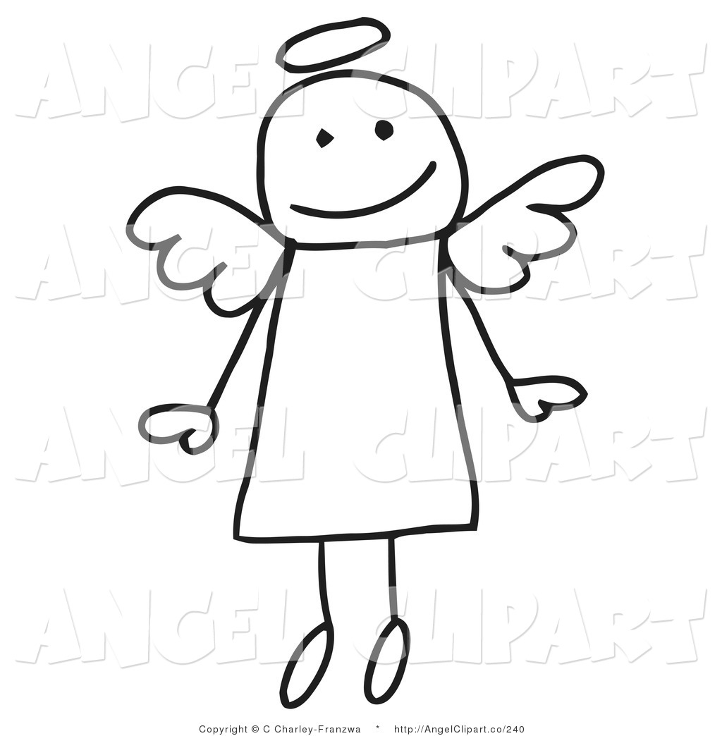 1024x1044 Clip Art Of A Cute Flying Stick Figure Angel With A Halo By C