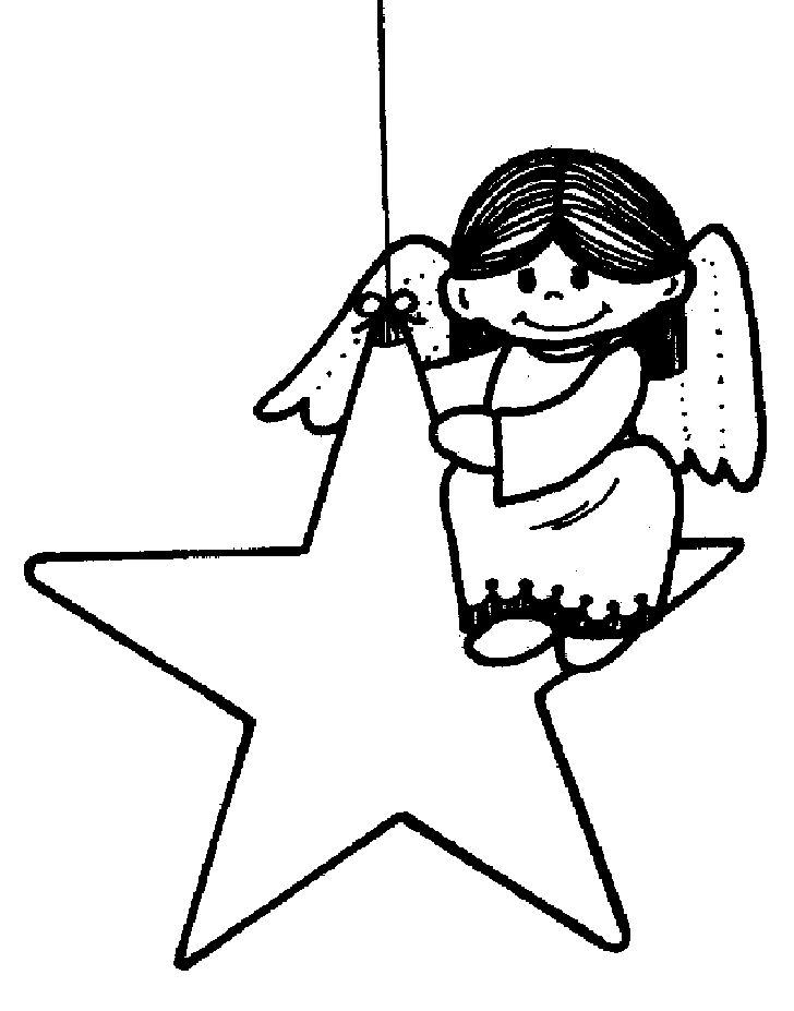 728x927 Christmas Angel Clip Art Black And White