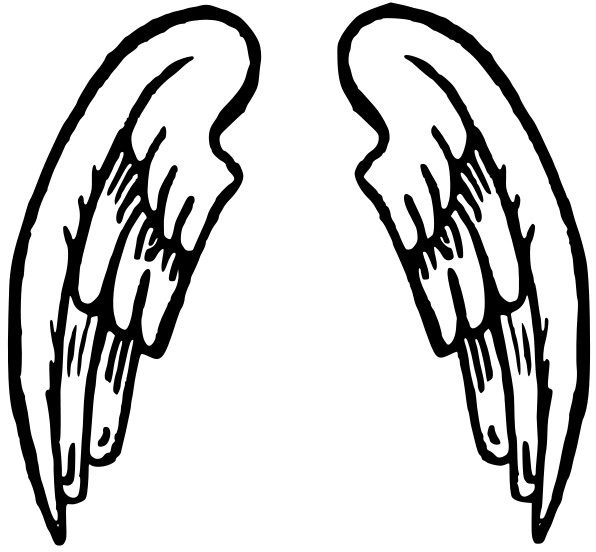 596x552 Clipart Angel Wings