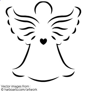 335x355 Download Christmas Angel With Heart