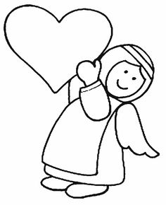 236x290 angel drawings for christmas ornaments my special angel paper