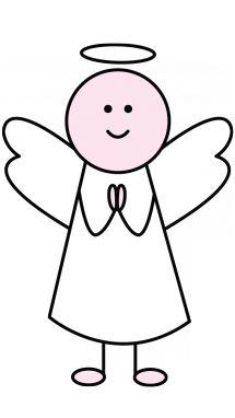 215x382 angel outline image