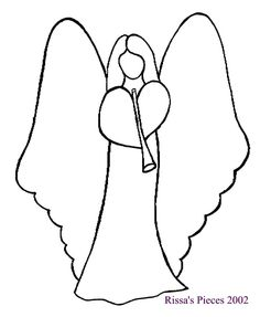 236x287 line drawing of angel CLICK HERE for line drawing Angel