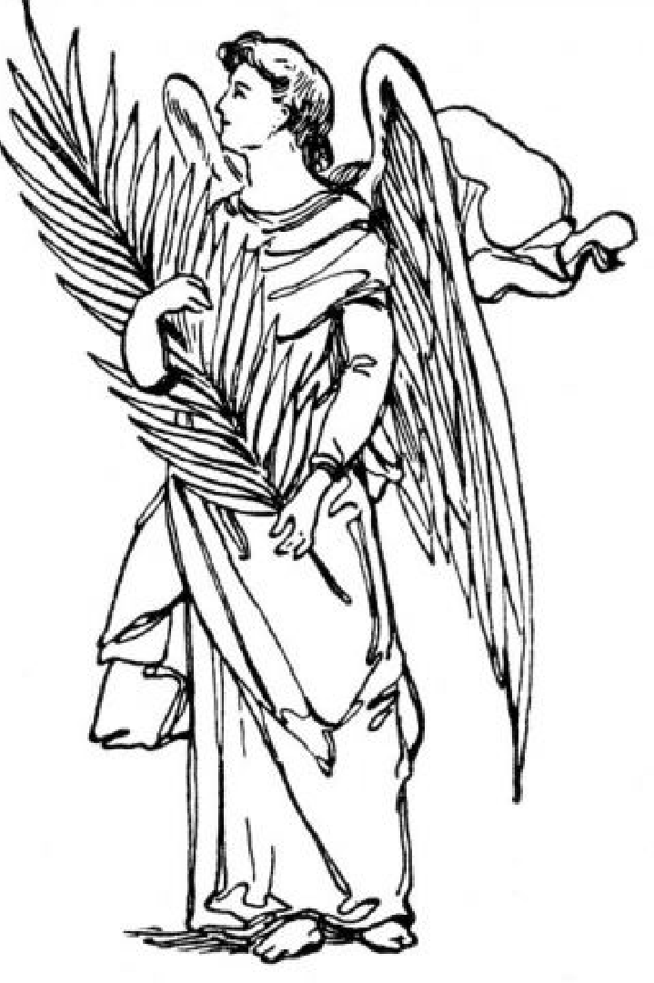 719x1081 Angel Outline Angel Outlines Neeling Angel Tattoo Outlines
