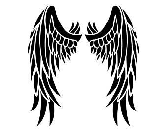 340x270 Angel Wings Svg Etsy