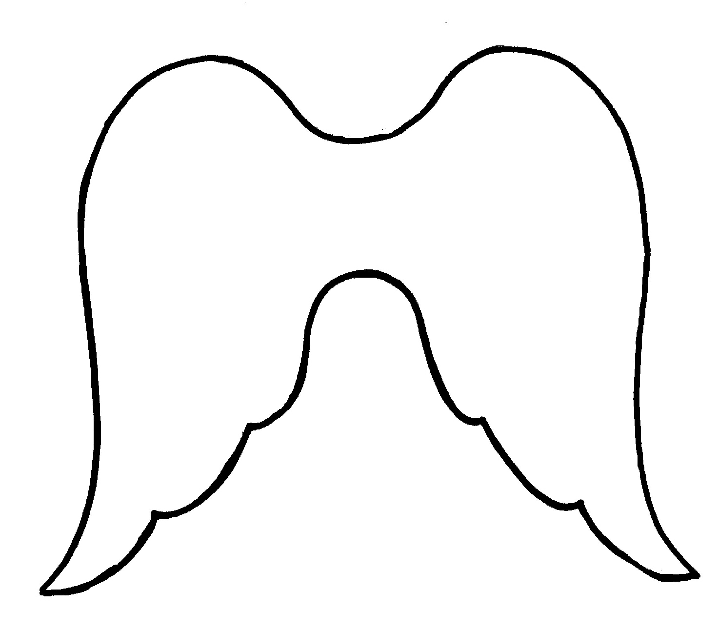1472x1293 Outline Angel Wing Clipart
