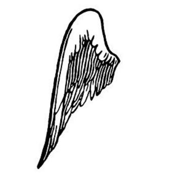 350x350 Pictures Angel Wings Cartoon Left Clip Art Image
